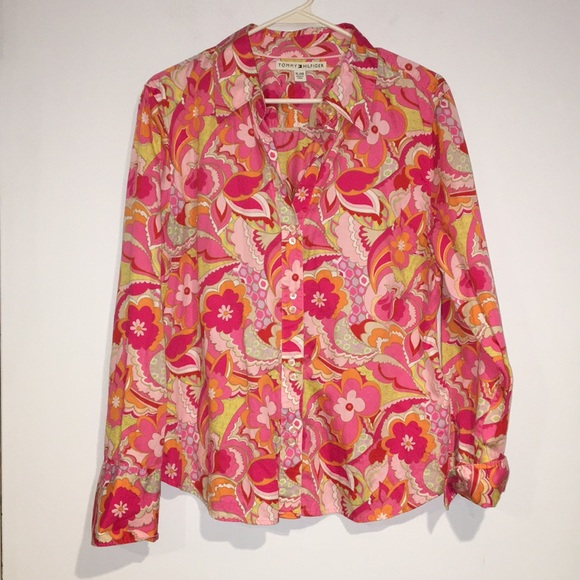 Tommy Hilfiger Tops - Tommy Hilfiger flowery Cotton blouse szXL